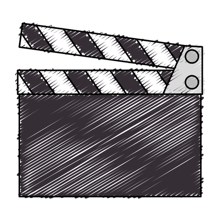 clapper board cinema icon vector illustration design