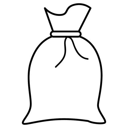 Sacco di tessuto isolato illustrazione vettoriale icona Vettoriali