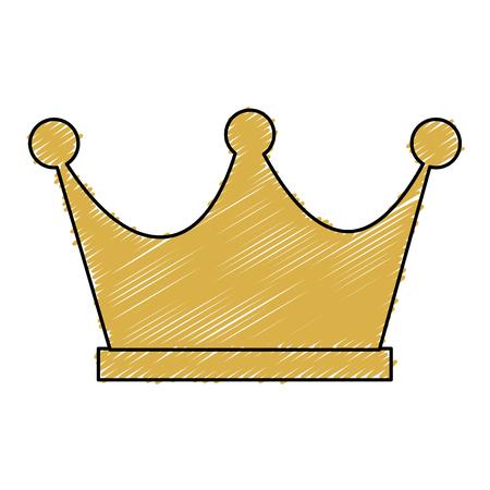 王の分離された王冠のアイコン ベクトル イラスト デザイン