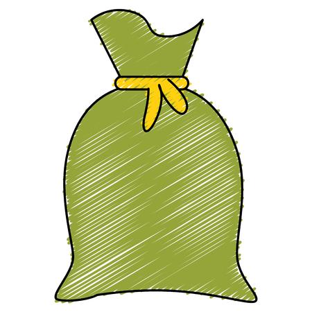 Fabric sack isolated icon vector illustration design