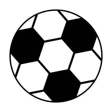 축구 공 격리 아이콘 벡터 일러스트 디자인