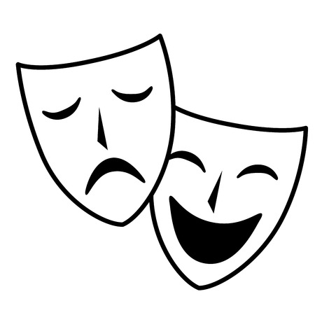 theater masks isolated icon vector illustration design Imagens - 80799137