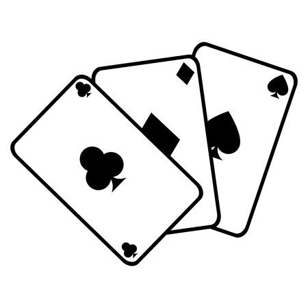 poker cards isolated icon vector illustration design Иллюстрация