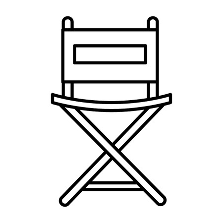 director chair isolated icon vector illustration design Stock Vector - 80799139