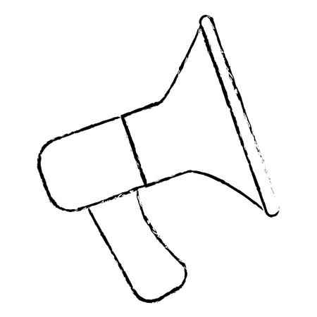 announce: sound megaphone isolated icon vector illustration design Illustration