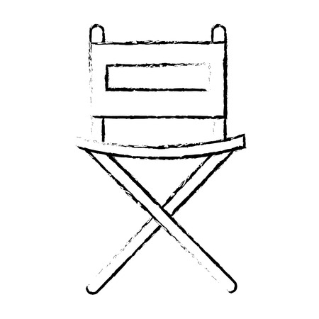director chair isolated icon vector illustration design 向量圖像