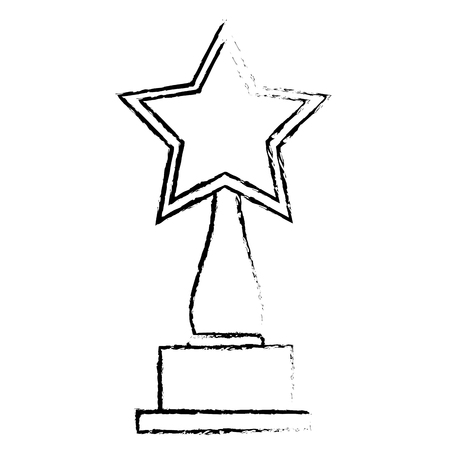 star award: star trophy award icon vector illustration design