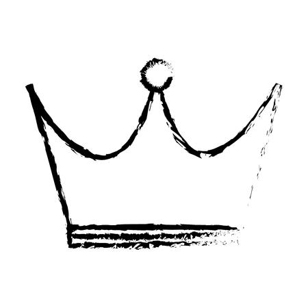 king crown isolated icon vector illustration design Banco de Imagens - 80798938