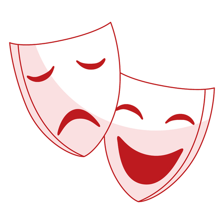 comedy: theater masks isolated icon vector illustration design