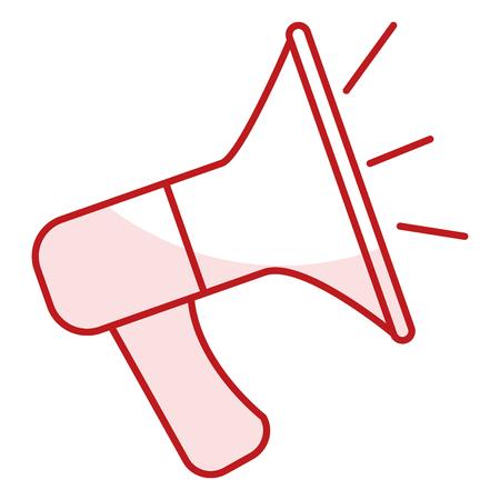 sound megaphone isolated icon vector illustration design Illustration