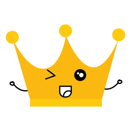 king crown  character vector illustration design