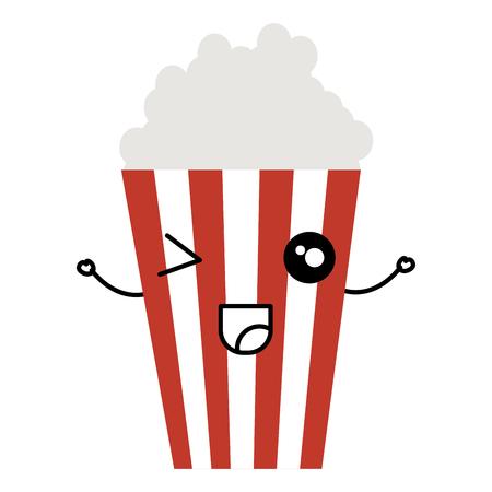 popcorn  character vector illustration design