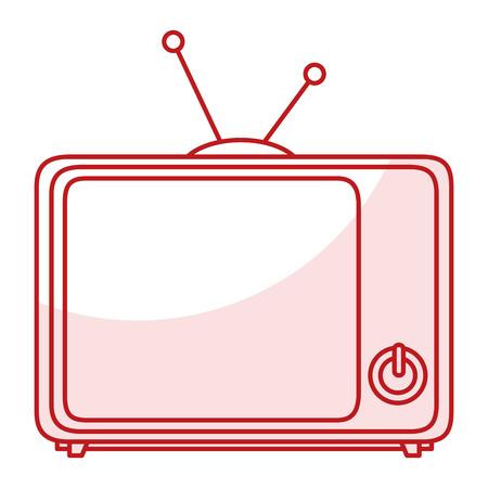 텔레비젼 복고 고립 된 아이콘 벡터 일러스트 레이 션 디자인 스톡 콘텐츠 - 80813732
