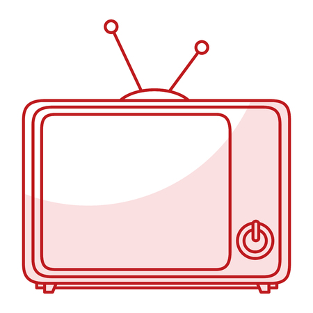 tv retro isolated icon vector illustration design Ilustrace
