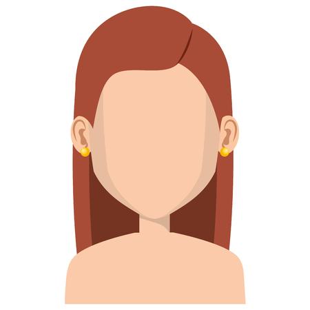 Jeune femme avatar avatar caractère conception vecteur illustration Banque d'images - 80813924