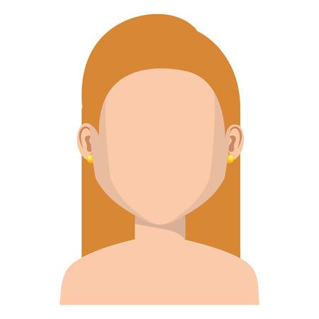 Nackter Avatara-Charaktervektor-Illustrationsdesign der jungen Frau Standard-Bild - 80813926