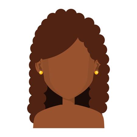 Jeune femme avatar avatar caractère conception vecteur illustration Banque d'images - 80814156