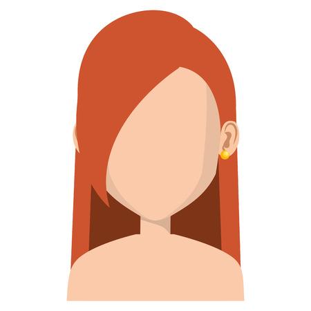 Jeune femme avatar avatar caractère conception vecteur illustration Banque d'images - 80814158