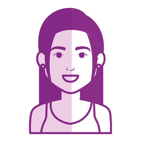 highschool: beautiful and young woman character vector illustration design Illustration