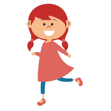 Niedliches kleines Mädchen Zeichen Vektor-Illustration Design Standard-Bild - 80814967