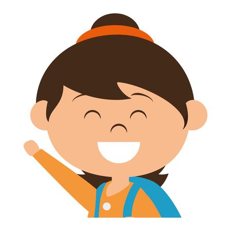 Niedliches kleines Mädchen Zeichen Vektor-Illustration Design Standard-Bild - 80814977