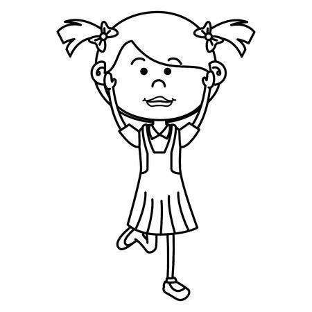 Nettes Zeichenvektor-Illustrationsdesign des kleinen Mädchens Standard-Bild - 80815003