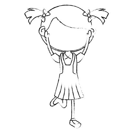 Niedliches kleines Mädchen Zeichen Vektor-Illustration Design Standard-Bild - 80815036