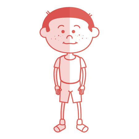 schoolkids: cute little boy character vector illustration design