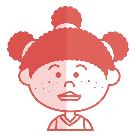 Nettes Zeichenvektor-Illustrationsdesign des kleinen Mädchens Standard-Bild - 80814627