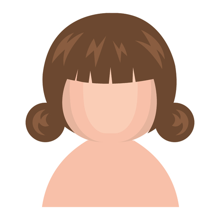 cute Little shirtless japanese doll vector illustration design Illustration