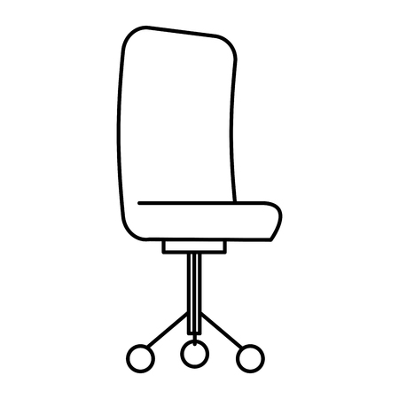 modern interior: office chair isolated icon vector illustration design