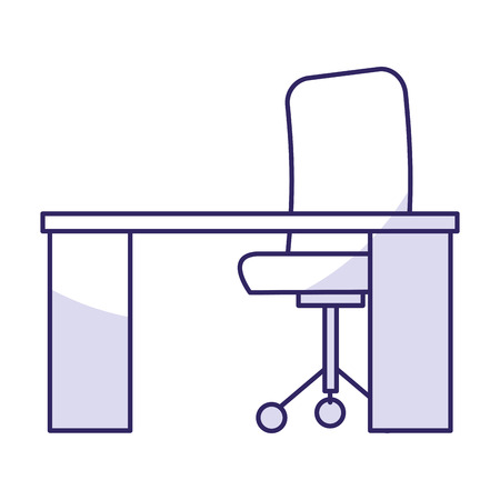 working place: desk and chair office place vector illustration design