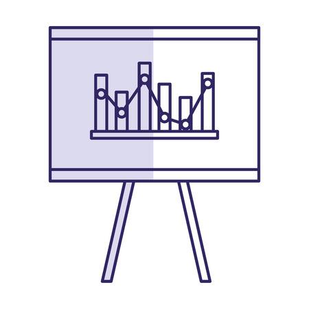 pictograph: Flipchart board isolated icon vector illustration design