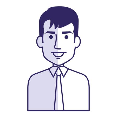 Elegante hombre de negocios avatar carácter ilustración vectorial diseño Foto de archivo - 80835615