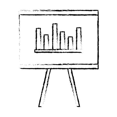 Flipchart board isolated icon vector illustration design Banco de Imagens - 80836766