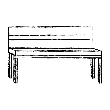 Park bench isolated icon vector illustration design