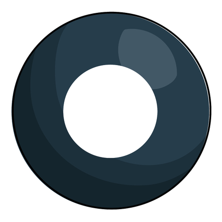 acht bal biljart pictogram vector illustratie ontwerp