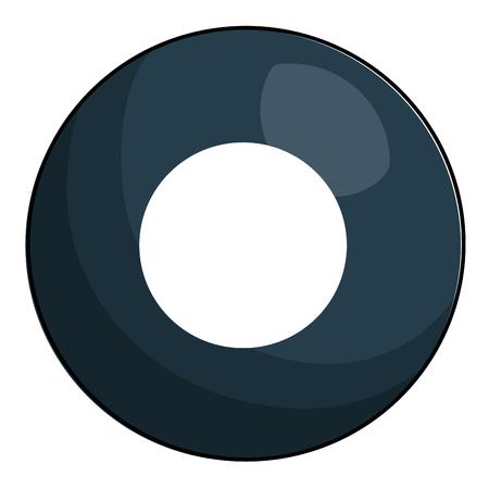 eight ball billiard icon vector illustration design