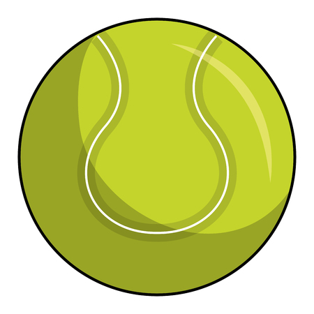 tennis ball isolated icon vector illustration design