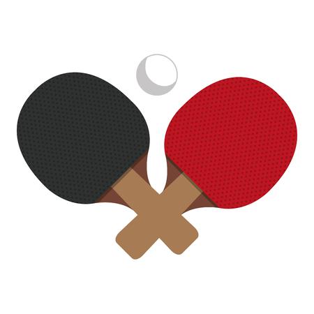 ping ピンポン ラケット分離アイコン ベクトル イラスト デザイン