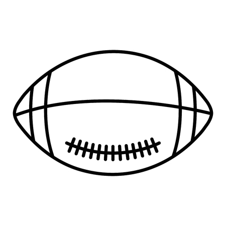 american football balloon icon vector illustration design Stock Vector - 80846190