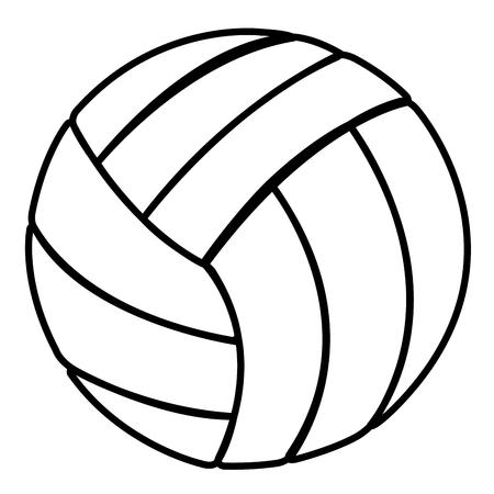 volleyball balloon isolated icon vector illustration design Illustration
