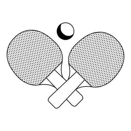 Ping pong racket geïsoleerd pictogram vector illustratie ontwerp Stock Illustratie