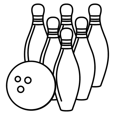 bowling pines isolated icon vector illustration design