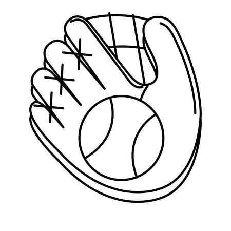 baseball glove and ball isolated icon vector illustration design Illustration