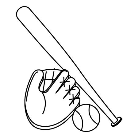 équipement de baseball isolé icône illustration vectorielle design