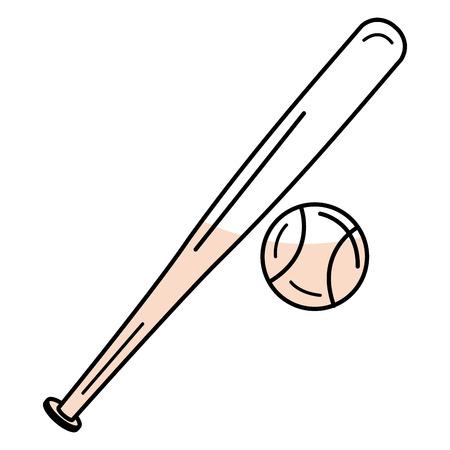 野球用具分離アイコン ベクトル イラスト デザイン  イラスト・ベクター素材