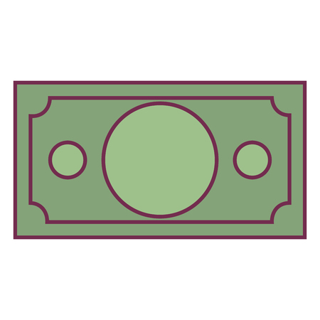 rekening geld dollar pictogram vector illustratie ontwerp