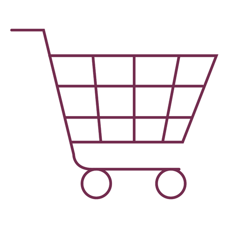 shopping cart isolated icon vector illustration design Stock Vector - 80836325