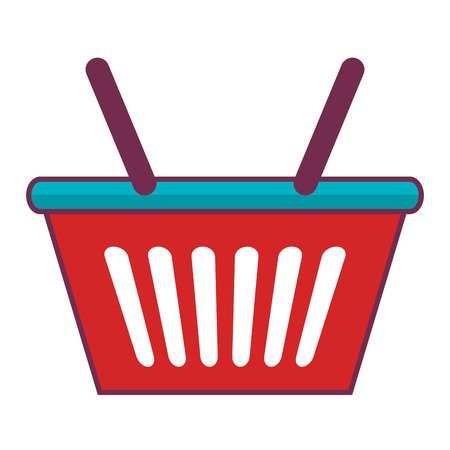 shopping basket isolated icon vector illustration design Stock Vector - 80836327